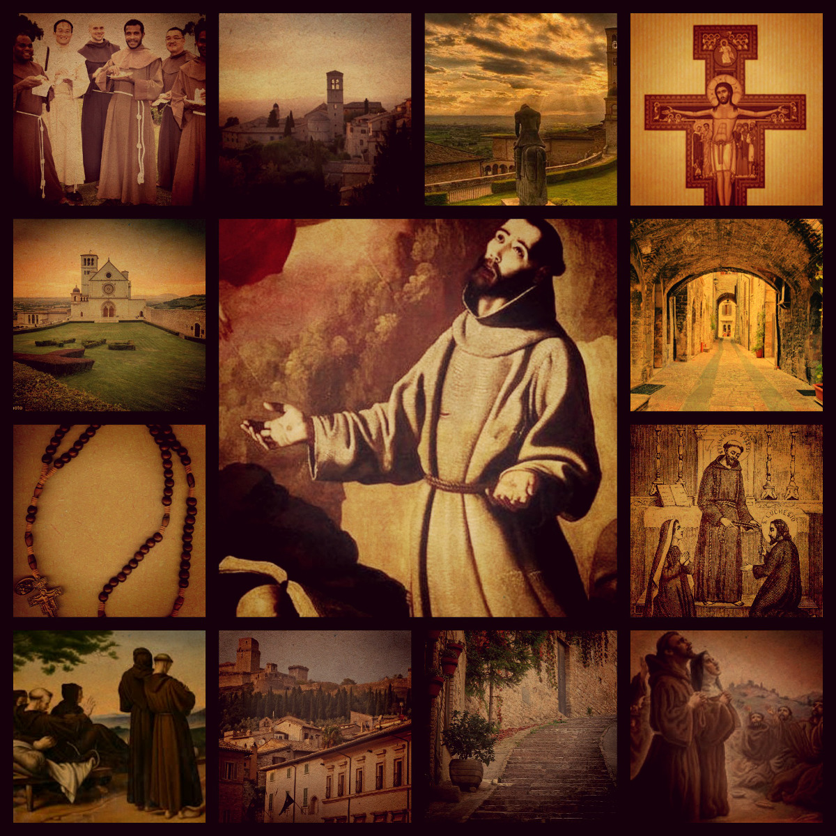 St. Francis collage for Pilgrims